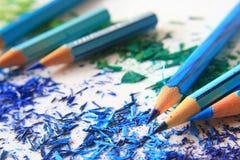 Kunst von farbigen Bleistiften Lizenzfreies Stockfoto