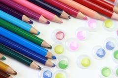 Kunst von farbigen Bleistiften Lizenzfreie Stockbilder