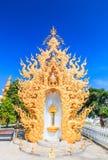 Kunst in Wat Rong Khun in Chiangrai-provincie, Thailand royalty-vrije stock afbeeldingen
