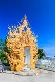 Kunst in Wat Rong Khun in Chiangrai-provincie, Thailand stock fotografie