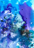 Kunst - Watercolour auf Papier Stockfotografie