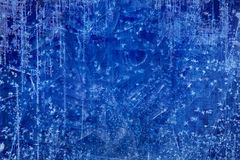 Kunst-Weihnachtsblauer Eisbeschaffenheit Winterhintergrund Lizenzfreie Stockfotos