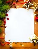 Kunst-Weihnachtsgrußkarte Stockbild
