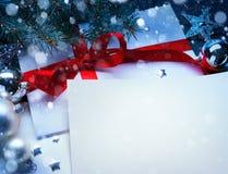 Kunst-Weihnachtsgrußkarte Lizenzfreies Stockbild