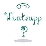 Kunst whatsapp vectorillustratie Stock Afbeelding