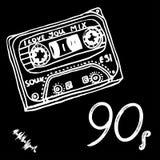 Kunstaffiche met cassettes stock illustratie