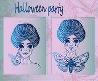 Kunstaffiches voor Halloween Stock Foto