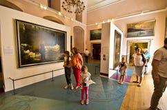 Kunstanzeige an Ksiaz-Schloss Polen Stockbild