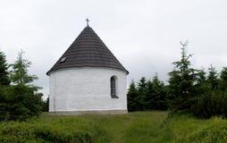 Kunstatska kaple - chapel  in Orlicke hory mountains in north-east Bohemia Stock Image
