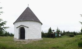 Kunstatska kaple - chapel  in Orlicke hory mountains in north-east Bohemia Royalty Free Stock Photos