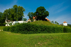 Kunstatt dans le château de la Moravie. images libres de droits
