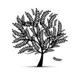Kunstbaum für Ihre Auslegung Lizenzfreie Stockfotos