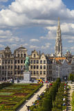 Kunstberg or Mont des Arts (Mount of the arts) gardens as seen from the elevated vantage point in Brussels, Belgium Royalty Free Stock Image