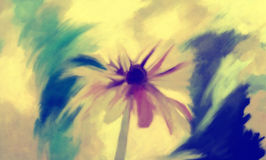 Kunstblumen-Ölfarbe lizenzfreie abbildung
