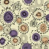 Kunstblumenzeichnungs-Grafikhintergrund Stockbild