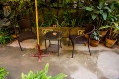 Kunstdesign des kleinen Gartens im Freien Lizenzfreie Stockbilder