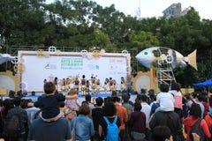 Kunsten in de gebeurtenis van Parkmardi gras in Hong Kong Stock Foto