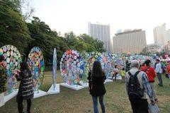 Kunsten in de gebeurtenis van Parkmardi gras in Hong Kong Stock Afbeeldingen