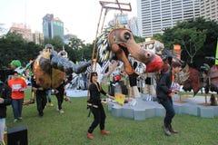 Kunsten in de gebeurtenis van Parkmardi gras in Hong Kong Stock Afbeelding