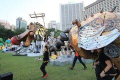 Kunsten in de gebeurtenis van Parkmardi gras in Hong Kong 2014 Stock Foto
