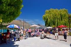 Kunsten en Ambachtenmarkt, Queenstown Nieuw Zeeland Royalty-vrije Stock Foto's