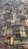 Kunsten van de vloer van kleibakstenen stock fotografie