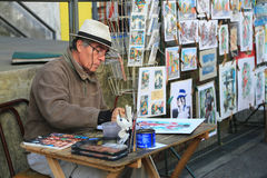 Kunstenaar bij La-boca in Buenos aires, Argentinië Royalty-vrije Stock Afbeeldingen