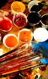 Kunstenaar Brushes royalty-vrije illustratie
