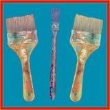 Kunstenaar Brushes Stock Afbeelding