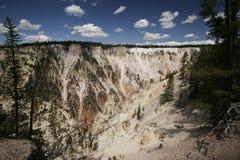 Kunstenaar Canyon, het Nationale Park van Yellowstone Stock Foto