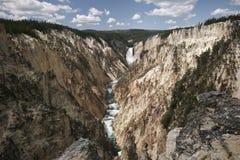 Kunstenaar Canyon, het Nationale Park van Yellowstone Stock Foto's