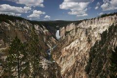 Kunstenaar Canyon, het Nationale Park van Yellowstone Stock Afbeeldingen