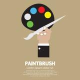 Kunstenaar Color Palette royalty-vrije illustratie