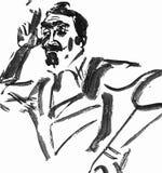 Kunstenaar en het schilderen vector illustratie