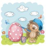 Kunstenaar Hedgehog vector illustratie