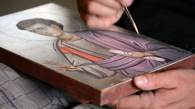 Kunstenaar het schilderen pictogram stock videobeelden