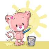 Kunstenaar Kitten vector illustratie