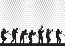 Kunstenaar met een trombone Stock Afbeeldingen