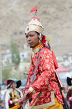 Kunstenaar op Festival van Erfenis Ladakh Royalty-vrije Stock Foto