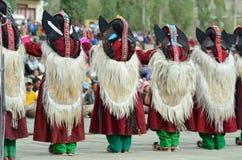 Kunstenaar op Festival van Erfenis Ladakh stock afbeeldingen