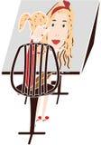 Kunstenaar op het werk Stock Illustratie