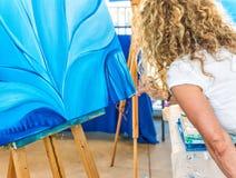 Kunstenaar Painting royalty-vrije stock afbeelding
