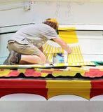 Kunstenaar At Work Royalty-vrije Stock Afbeelding