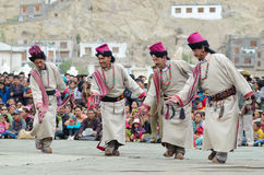 Kunstenaars op Festival van Erfenis Ladakh Stock Fotografie