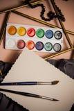 Kunstenaars` s achtergrond met lege exemplaarruimte Stock Foto's