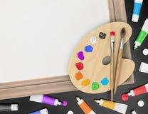 Kunstenaars` s Creatieve Toebehoren Royalty-vrije Stock Fotografie