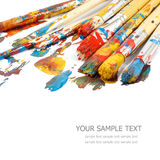 Kunstenaarsborstels stock fotografie
