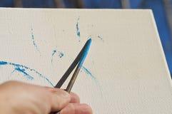 Kunstenaarshand Royalty-vrije Stock Afbeeldingen