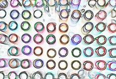 Kunstenaarshulpmiddelen die pennen in vele schaduwen kleuren stock afbeeldingen