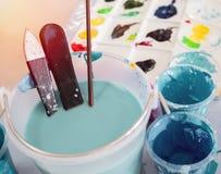 Kunstenaarskleuren royalty-vrije stock afbeeldingen
